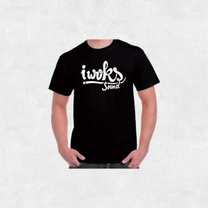 Tee-Shirt I Woks Sound - Sans Frontières - Homme - Noir