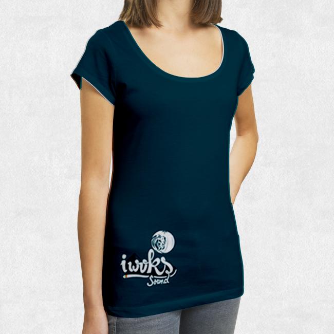 Tee Shirt I Woks - Bleu - Femme