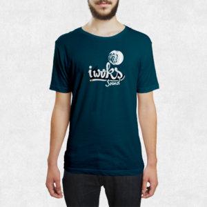 Tee Shirt I Woks - Bleu - Homme