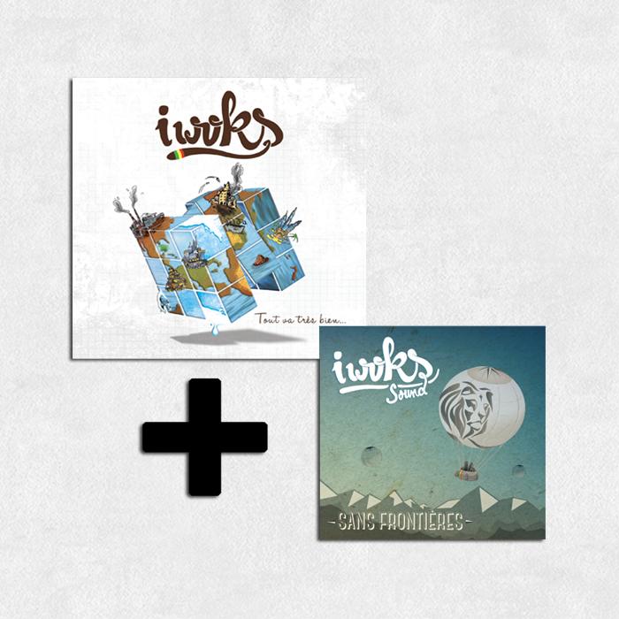 """Pack 2 Albums I Woks """"Sans Frontières"""" et """"Tout va bien ..."""""""