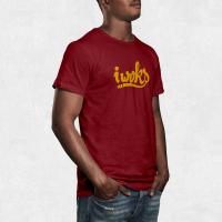 Tee Shirt I Woks - Rouge - Homme