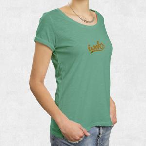 Tee Shirt I Woks - Turquoise - Femme