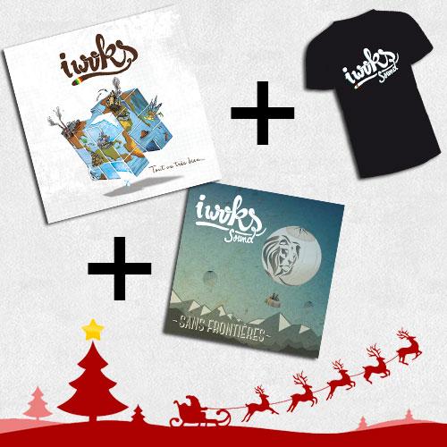 """Offre Noël: Pack 2 Albums I Woks """"Sans Frontières"""" et """"Tout va bien ..."""" et 1 tee-Shirt au choix"""