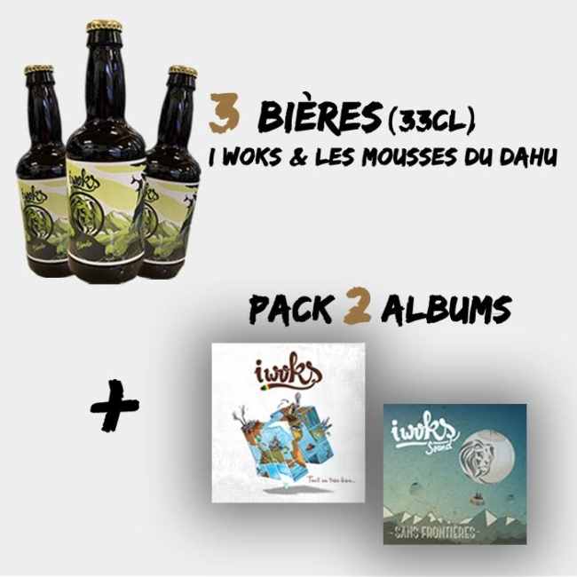 Bières I Woks + Pack 2 albums I Woks